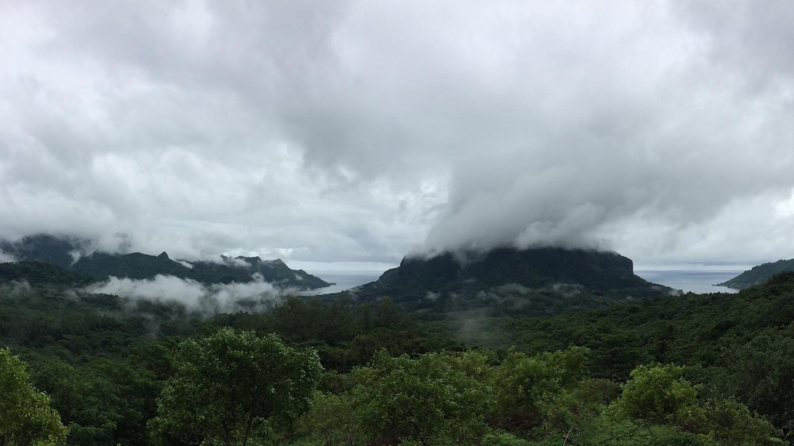clouds over moorea